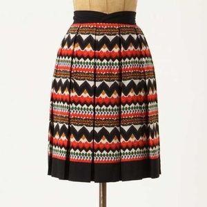 Anthropologie Fei Denpasar Aztec Full Skirt Size 6